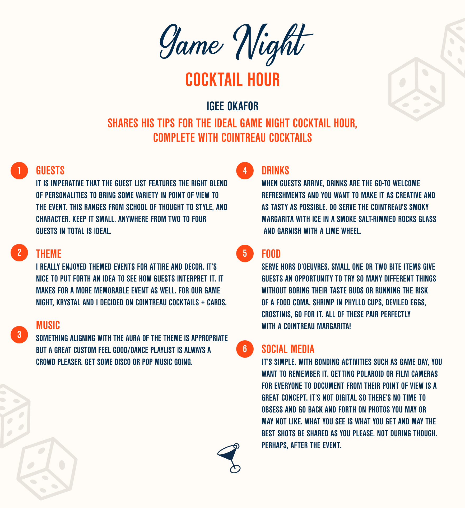 3 Game Night Cocktail Recipes | Cointreau Cocktail Hour